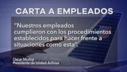 United Airlines se disculpa pero justifica expulsión de pasajero
