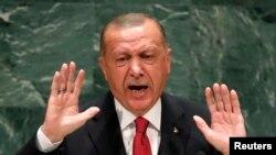 Shugaba Recep Tayyip Erdogan na Turkiya