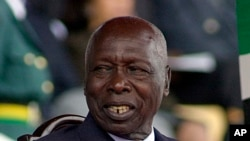 FILE - In this Oct. 2002, shows former Kenya's President Daniel arap Moi. Moi, a former schoolteacher who became the country's longest-serving president and presided over years of repression and economic turmoil fueled by runaway corruption, has died.