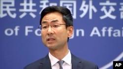 资料照:中国外交部发言人耿爽