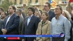 بازتاب دستگیری رهبر جدایی طلب کاتالونیا؛ اعتراضات در بارسلون