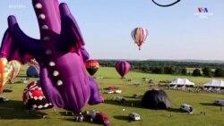 Նյու Ջերսիի 38-րդ ամենամյա Օդապարիկների փառատոնը մեկնարկել է Ռեդինգթոն քաղաքից, ավելի քան 100 գունագեղ օդապարիկներով