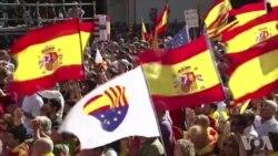 数十万民众举行集会 抗议加泰罗尼亚独立