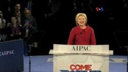 Clinton critica a Trump durante AIPAC