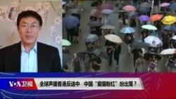"""时事大家谈:全球声援香港反送中 中国""""爱国粉红""""纷出笼?"""