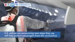 VOA60 America - U.S. airlines announce new steps they say will help protect passengers from the coronavirus