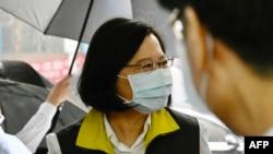 台湾总统蔡英文访视中央流行疫情指挥中心(2020年5月19日)