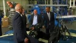奥巴马强调美国制造业的成就