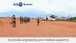 VOA60 Africa - South Sudan: British troops arrive in capital Juba to provide support to the UN mission