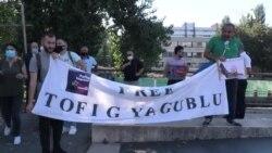 Avropa İnsan Hüquqları Məhkəməsinin binası qarşısında Tofiq Yaqubluya dəstək aksiyası keçirilib