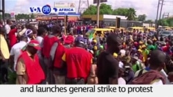 VOA60 Africa - Nigeria: Oil sector union launches general strike