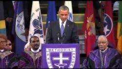 ادای احترام باراک اوباما به کشته شدگان کلیسای چارلستون