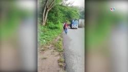 Caravana de migrantes comienza su travesía en Honduras.