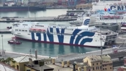 Իտալիայի Ջենովա քաղաքի նավահանգստում կառանած զբոսանավը վերածվել է լողացող հիվանդանոցի