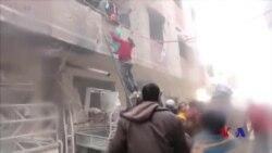 敘利亞首都外圍近30平民死於空襲