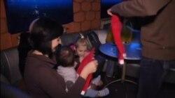 Carrera de bebés Santa Claus