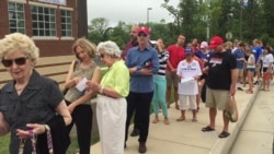 Hundreds of Virginians Wait in Early Morning Hours to Hear Trump
