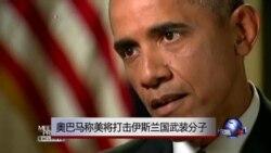 奥巴马称美将打击伊斯兰国武装分子