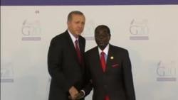 Mugabe Greets Turkish President Tayyip Erdogan at G20 Summit