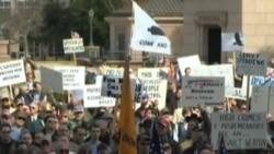 全美各州首府举行和平集会支持持枪权利
