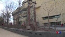國立美國印第安博物館外紅裙飄揚 紀念原住民婦女