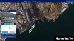 13일 북한 남포 석탄 항구 일대를 보여주는 마린트래픽(MarineTraffic)의 자료. 태평 호가 정박한 사실이 확인된다. 자료 제공=MarineTraffic