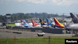 Pesawat Boeing 737 di pabrik Boeing di Seattle, Washington (foto: dok). Boeing membukukan lonjakan pesanan baru bulan Februari 2021.