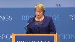 Bachelet continúa su visita por EE.UU.
