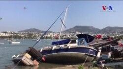 Ege'deki Depremde 2 Kişi Öldü