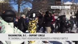 Snowball Fight - เล่นปาหิมะ ที่ วงเวียนดูปองท์