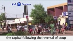 VOA60 Africa- Calm restored to capital of Burkina Faso as president returns to power