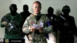 Mensaje publicado por militar rebelde en Venezuela