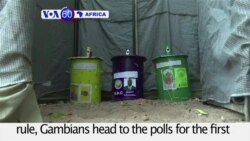 VOA60 Africa - Gambians Vote in Parliamentary Elections