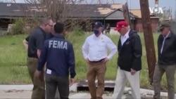 特朗普視察路易斯安那和德州颶風受災地區
