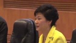 韩国总统朴槿惠与中国国家主席习近平会谈