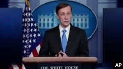 """El asesor de seguridad nacional de Estados Unidos, Jake Sullivan, calificó la detención injusta de ciudadanos estadounidenses en Irán de un """"ultraje absoluto y total""""."""