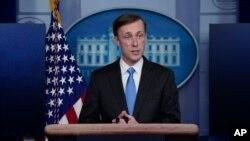 Джейк Салліван, радник Білого дому з питань національної безпеки відповідає на питання журналістів