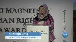 Uyg'ur jurnalisti Magnitskiy Inson huquqlari sovrindorlari orasida