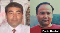 图为自由亚洲记者苏莱曼在中国失踪的两兄弟艾赫买特(左)和艾赫特(右)。(照片由家人提供)