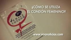 Vea cómo se utiliza el condón femenino