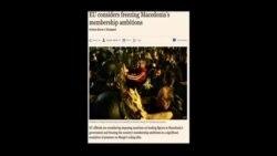 Американски медиуми за политичката криза во Македонија
