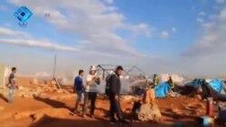 Syria Airstrinke Refugees