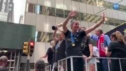 ABD Milli Takımı Şampiyonluğu New York'ta Kutladı