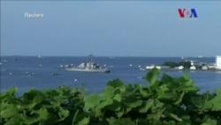 Barco estadounidense que chocó con carguero regresa a su base