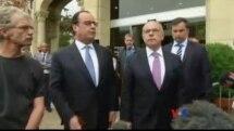 Réaction de François Hollande sur la prise d'otages dans une église dans le nord-ouest de la France (vidéo)