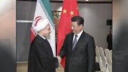 رئیس جمهوری چین در دیدار با روحانی: برای رسیدن به توافق اتمی تلاش میکنیم