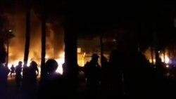 درگیری شدید میان مردم و نیرهای بسیجی در یک پایگاه در شاهینشهر اصفهان