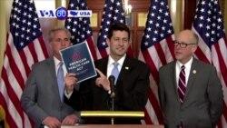 Manchetes Americanas 5 Abril 2017: Mike Pence e representantes republicanos trabalham na lei da saúde
