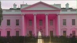 کاخ سفید صورتی شد: حمایت برای مبارزه با سرطان پستان