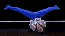 ဂ်ပန္ အိုလံပစ္ ထိပ္တန္းဂြ်မ္းဘားသမား လက္ေခ်ာ္ၿပီး ဘာတန္းအျမင့္ကေန ျပဳတ္က်
